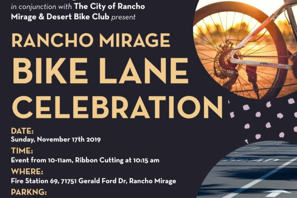Rancho Mirage Bike Lane Celebration
