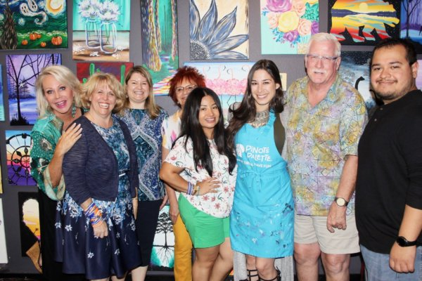 Pinot's Palette host a PAINT & SIP Event to support United Cerebral Palsy (UCPIE)!