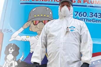 General Air Conditioning & Plumbing Has Put In Place a No Contact Service Call
