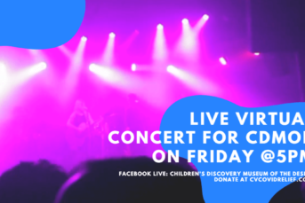 Virtual LIVE Concert on Friday for CDMoD