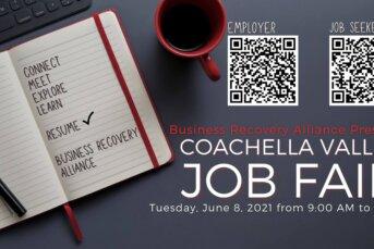 Business Recovery Alliance Coachella Valley Announced a Coachella Valley Job Fair