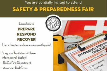 Are you prepared?  Come Learn how to PREPARE, RESPOND, AND RECOVER from a disaster, such as a major earthquake!
